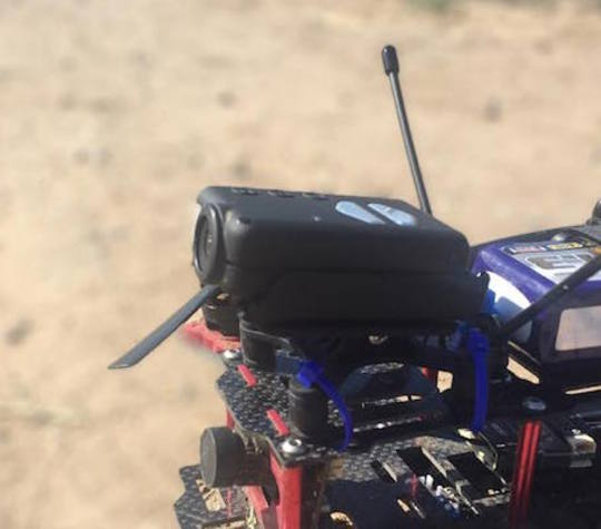The FPV mount in an Emax 280, ready to fly